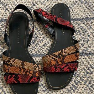 Zara snakeskin sandals